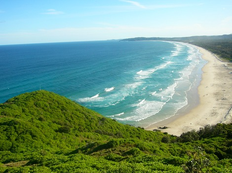 Byron Bay beach in New South Wales