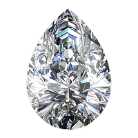 0.62 carat pear cut diamond