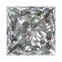 3.17 carat princess cut diamond