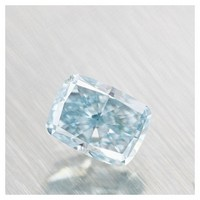 0.30 carat Green-blue cushion diamond