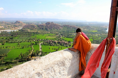 View from a religious temple in India