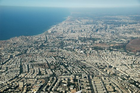 The city of Tel Aviv, in Israel